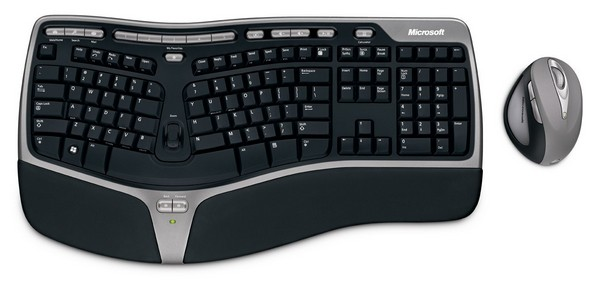 Ergonomic Wireless Keyboard Mouse Combo