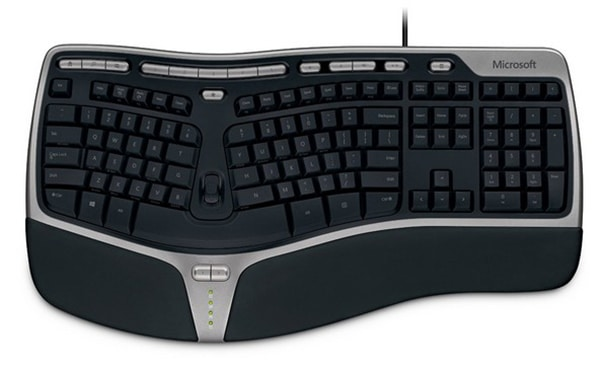 Ergonomic Keyboard With Touchpad