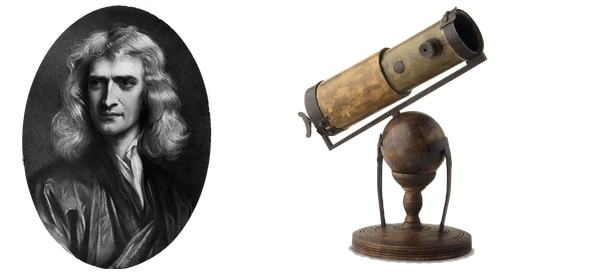 isaac newton with telescopes